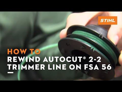 Rewinding AutoCut® 2-2 Trimmer Line on FSA 56