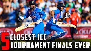 5 Closest ICC Tournament Finals Ever | Simbly Chumma