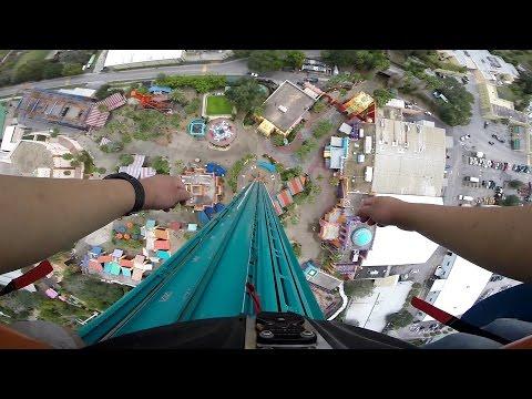 Falcon's Fury 335ft Drop Tower OnRide POV Busch Gardens Tampa