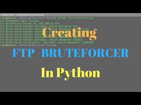 Creating FTP Brute Forcer in Python (Script link in description).