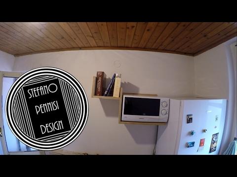 How To Make a Microwave & Books Wooden Shelf - Come Fare una Mensola In Legno Per Microonde
