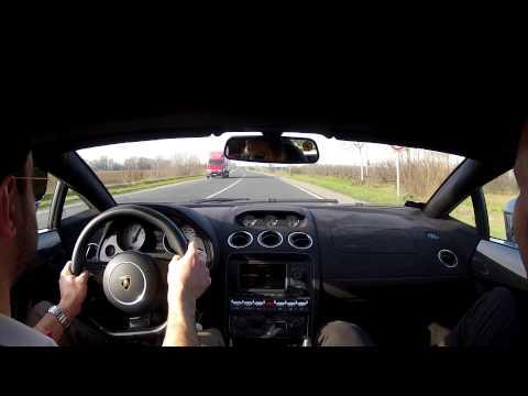 Lamborghini Gallardo test drive Italy