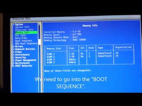 Dell Boot Sequence Problem Solution