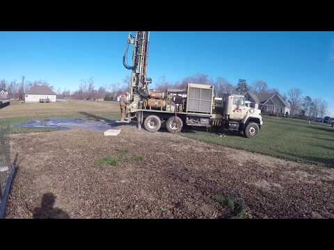 Lawn irrigation well install
