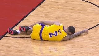 Lonzo Ball Injury After Hurting His Ankle & Has To Be Carried Off The Court! Lakers vs Rockets