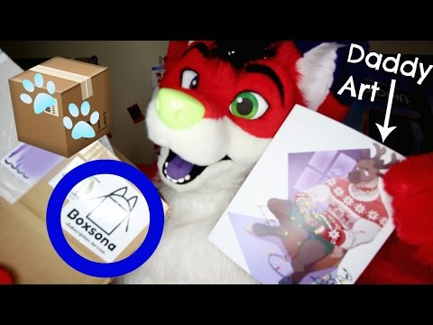 DADDY FURRY ART! (Boxsona Unboxing #1)
