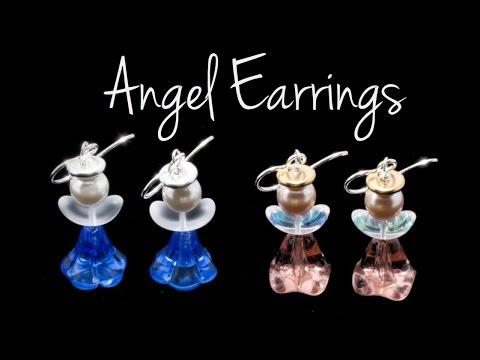 Make Angel Earrings in 2 Minutes at The Bead Gallery, Honolulu!