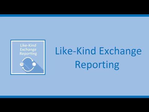 Like-Kind Exchange Reporting