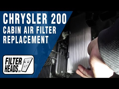How to Replace Cabin Air Filter 2016 Chrysler 200