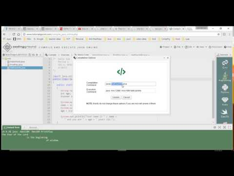 Using CodingGround for Compiling Java Programs Online