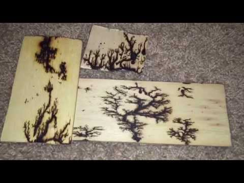 How to Burn Fractals in Wood With High Voltage