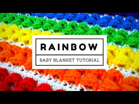 Rainbow Baby Blanket Tutorial