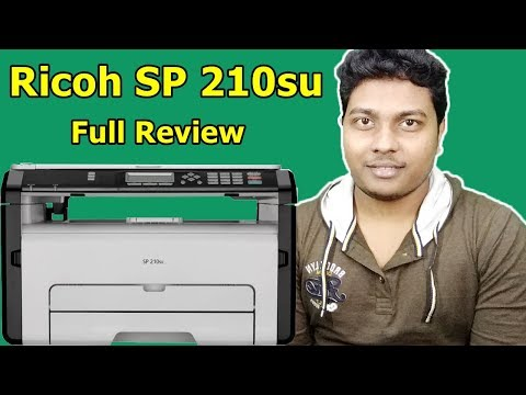 Ricoh SP 210su Laser Printer from AMAZON | Print Test, Xerox Test, Scan Test, Review | TechnoSajid