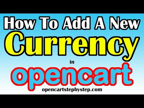 How To Add A New Currency In Opencart - Indian Rupee But Will Work For Any Currency