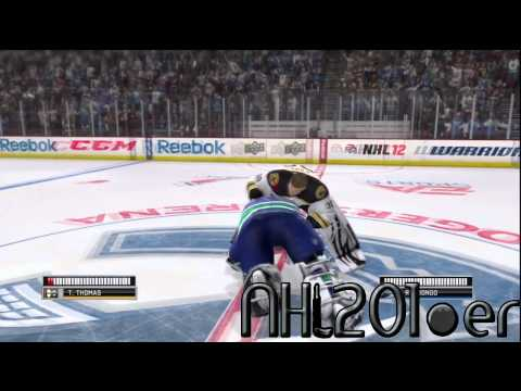 [HD] NHL 12 DEMO - Goalie Fight