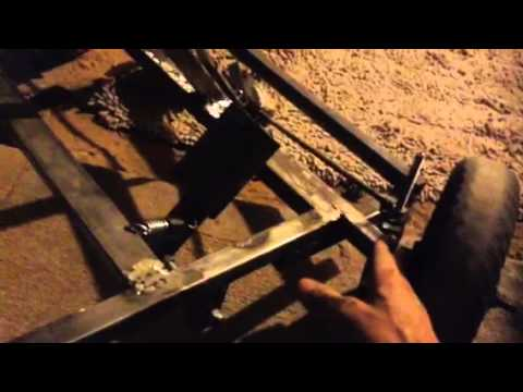 How to make home made go kart pedals part#1