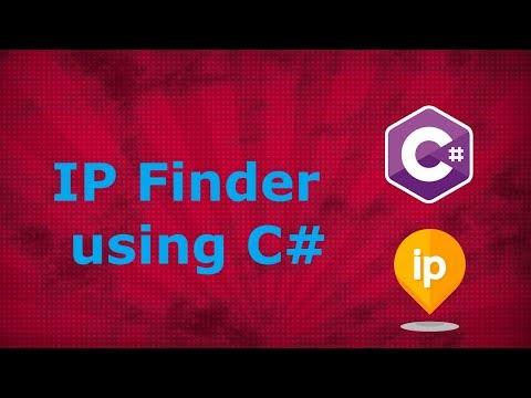 IP Finder : Find your public IP Address using C#