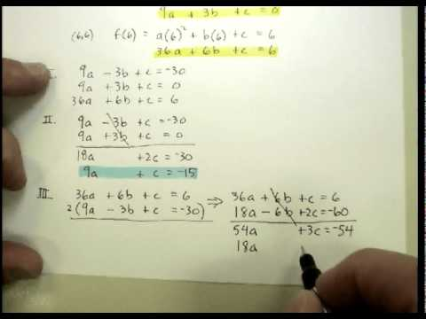 Quadratic Equations: Deriving an Equation from Data Points.avi