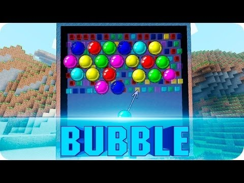 Bubble Shooter in Minecraft 1.8.7 or 1.8.X (Minecraft Mini Games)