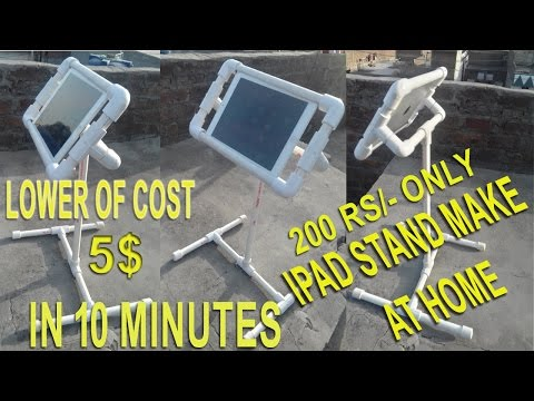 how to make ipad stand at home in 10 minutes