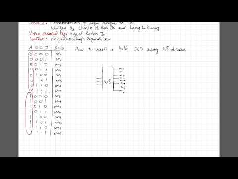 Digital Electronics: How to build a 4x16 decoder using 3x8 decoders