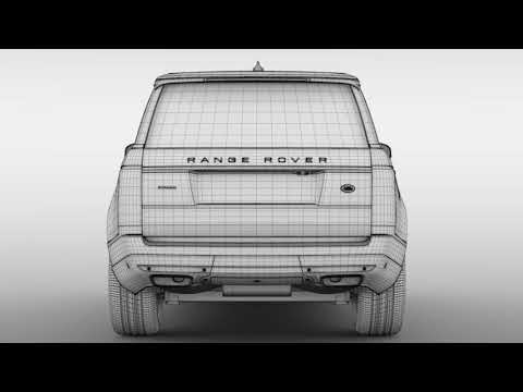 3D Model of Range Rover Autobiography LWB L405 2018