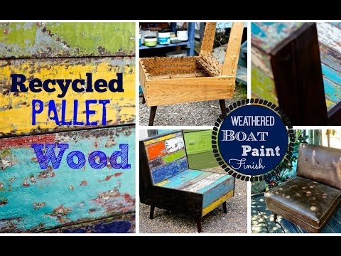 How to layer paint, distress &  build a pallet wood chair