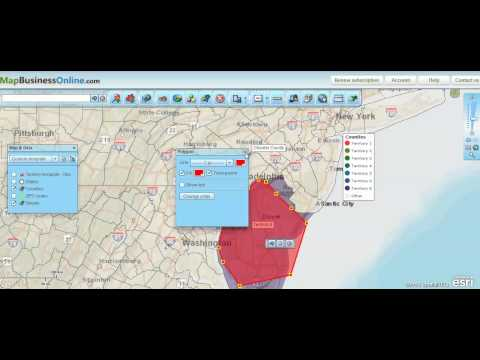 How to Build Sales Territories From Scratch Using Polygon Search - Map Business Online