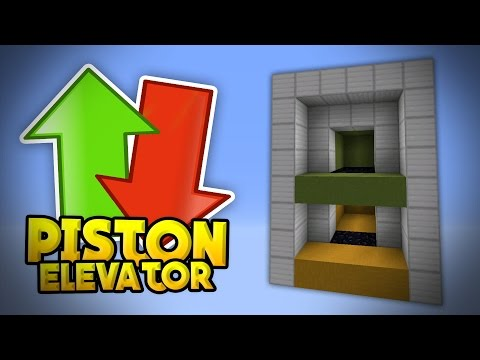UP & DOWN ELEVATOR TUTORIAL - Compact Piston Elevator in MCPE 0.15.0 - Minecraft PE (Pocket Edition)