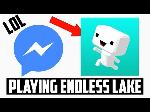 Playing Endless Lake (Facebook Messenger Games)