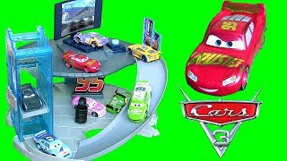 CARS 3 Rust-Eze Racing Center Playset with Spiral Ramp and Elevator from Disney Pixar Cars 3 toys