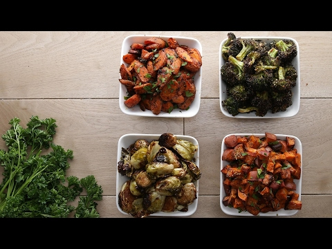 One-Pan Roasted Veggies 4 Ways