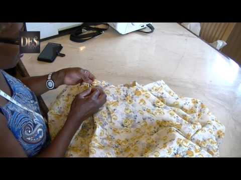 How to make box pleat skirts part 2