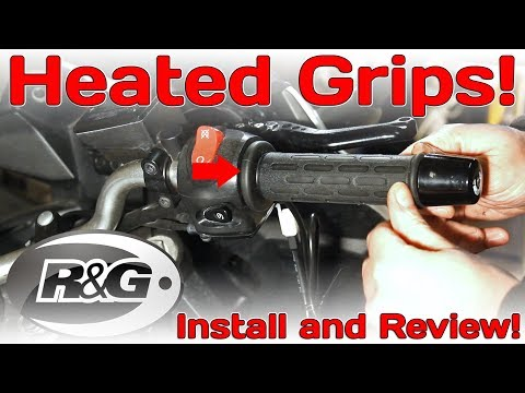 R&G Heated Motorcycle Grips,  Install and Review!