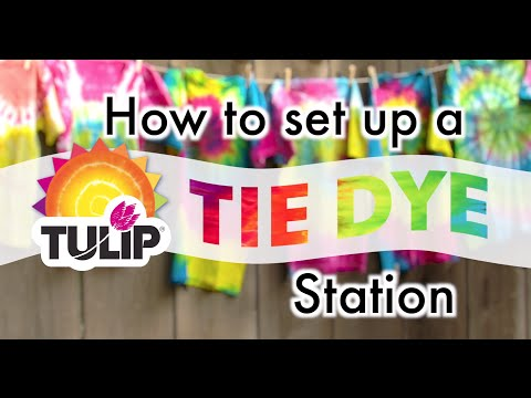 How to set up a Tie Dye Station