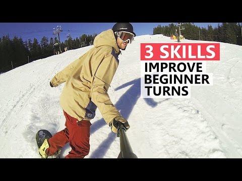 3 Skills to Improve Beginner Snowboard Turns