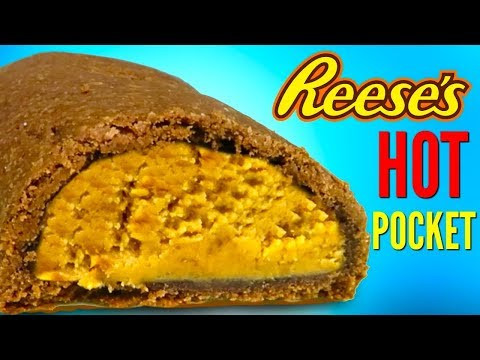 REESE'S HOT POCKETS - How To Make Peanut Butter Cups Candy Hot Pocket DIY