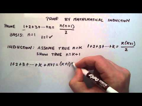 Proof by Mathematical Induction - How to do a Mathematical Induction Proof ( Example 1 )