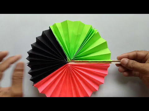 How to make a paper fan out of rectangle paper.make some wonderful.