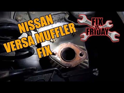 2006-2013 Nissan Versa Muffler Replacement
