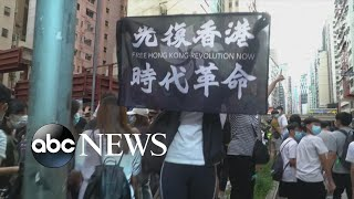 Hong Kong clashes over new security law