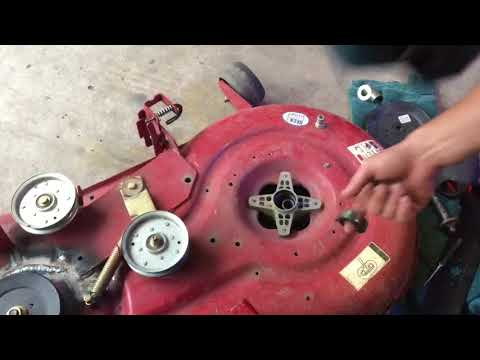Free DIY repair on a MTD built Craftsman - smashed star connector on shaft for  blade mount.