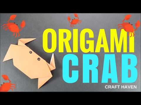 How To Make Simple and Easy Origami Crab - Fun Origami Animal - Origami Paper Crab for Beginners