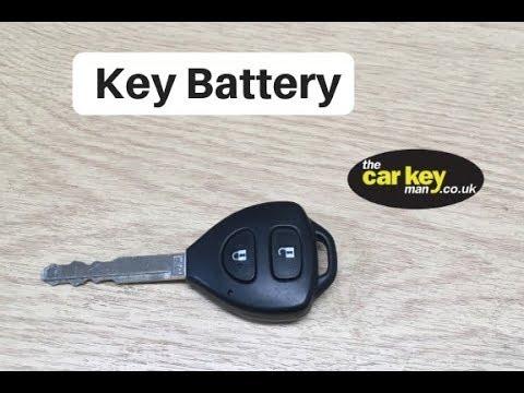 2013 Toyota Yaris change key battery HOW TO