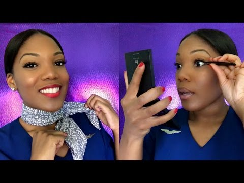 GET READY WITH ME | Flight Attendant Makeup Tutorial | Affordable Drugstore Products