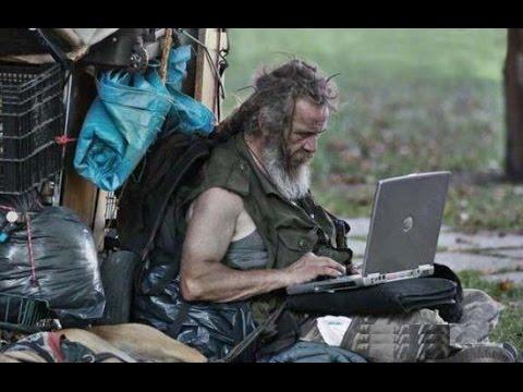 hi-tech Beggars with ATM swipe machine