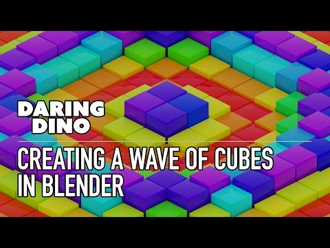 Creating a Wave of Cubes in Blender