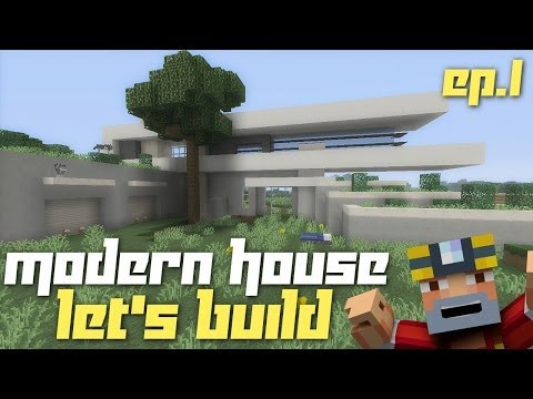 Minecraft Xbox 360: Let's Build a Modern House! (Part 1)