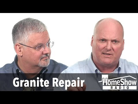 What's the remedy for a cracked granite sink?