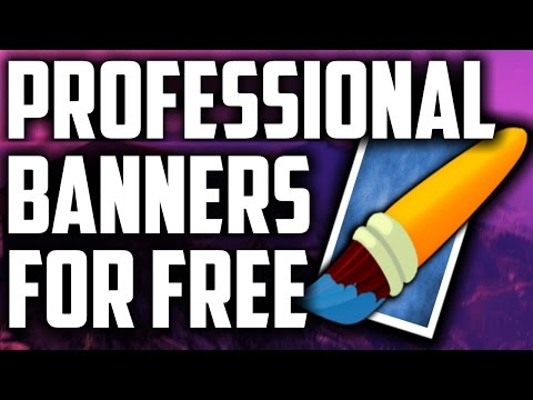 HOW TO  MAKE A PROFESSIONAL LOOKING YOUTUBE BANNER FOR FREE USING Paint.NET 2016